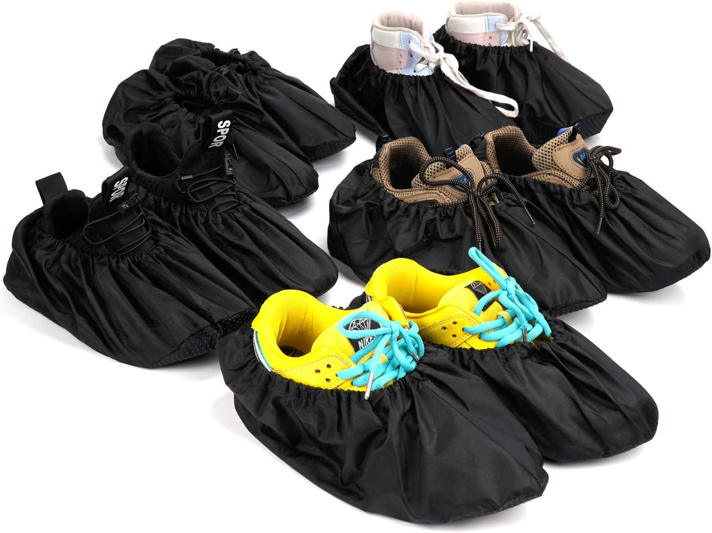 SCKOSC 5 Pairs Shoe Covers Non Protect Slip Reusable Very All items free shipping popular Booties For
