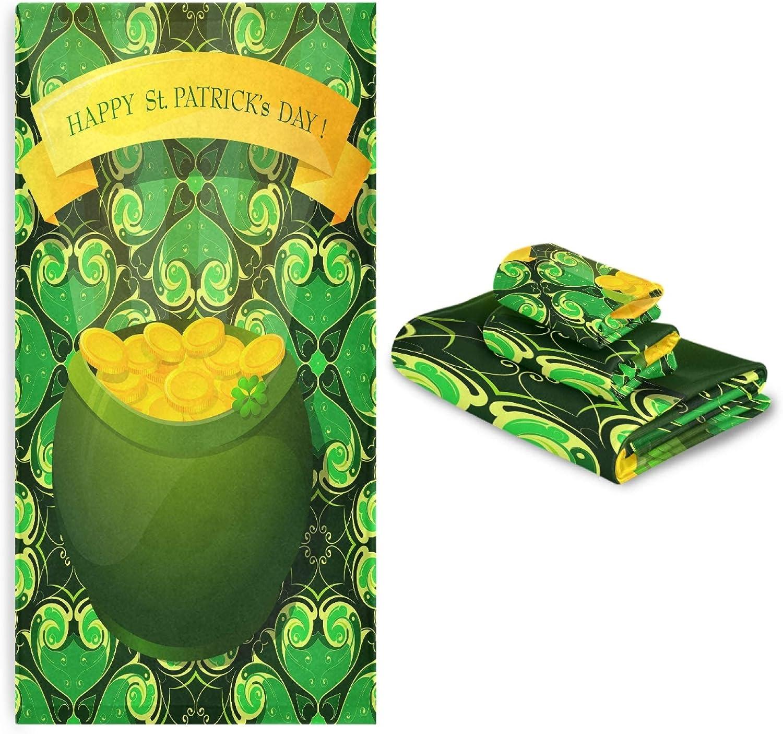 NEW Saint Patricks Day Clover Hearts 3 Golden Set Coin Pcs Towel Discount mail order Pot