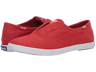 Keds Chillax Seasonal Solid (Red Washed Twill) Women