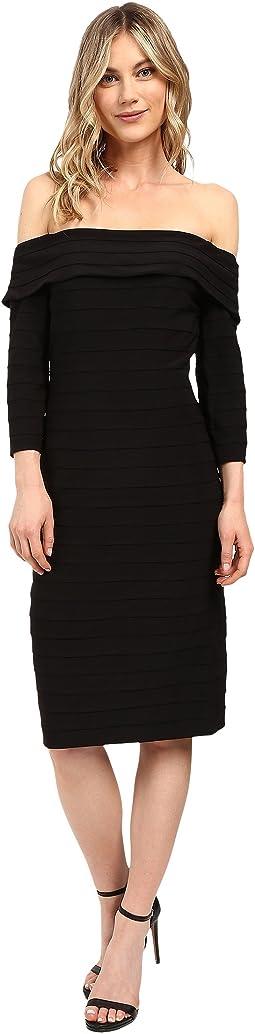 Fold-Over Top Banded Sheath Dress