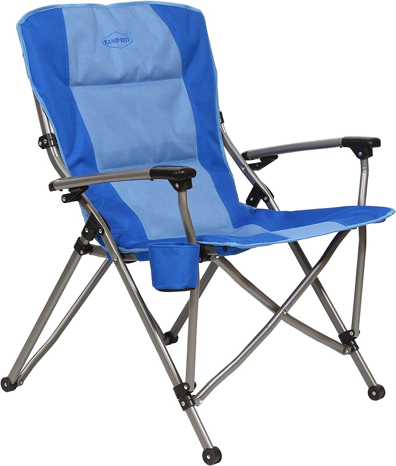 Kamp-Rite Soft Padded Our shop most Spring new work popular Hard Arm Camping Chair wit Folding Outdoor
