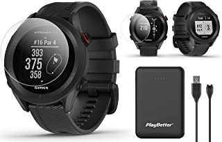 $209 » Garmin Approach S12 GPS Golf Watch Bundle | Includes PlayBetter Portable Charger & HD Screen Protectors | Sunlight-Readabl...