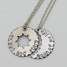 Custom Two Game of Thrones Daenerys Targaryen Khal Drogo My Sun and Stars, Moon of My Life Necklaces
