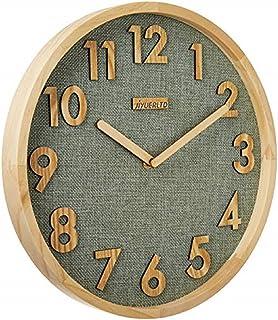 JIYUERLTD 12 Pouces Horloge Cuisine Pendule murales Silence sans tiques Horloge Murale à Quartz,Bois Horloge pour Accueil ...