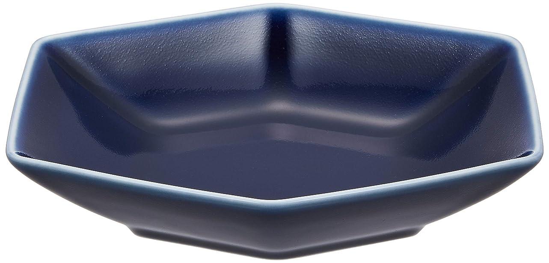 競うと愚か白山陶器 煮付鉢 つや紺 (約)15.5×13×3.5cm  キッコウ KIKKOU 波佐見焼 日本製