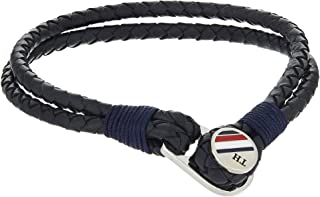 TOMMY HILFIGER MENS BLUE BUTTON LEATHER BRACELET - 2790221S