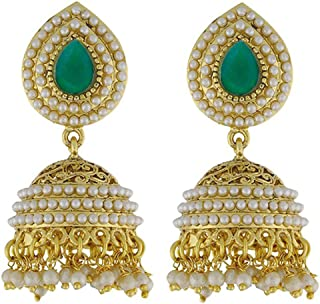 YouBella Ethnic Jewelry Bollywood Pearl Jhumki Earrings for Women and Girls