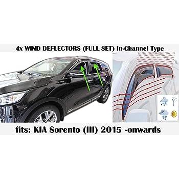 Premium Side Window Visors Wind Deflectors 4p for 2020 KIA Sportage