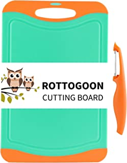 Cutting Board for Kitchen, Plastic Large Chopping Board, Thick Chopping Board with Non-Slip Feet and Deep Drip Juice Groov...
