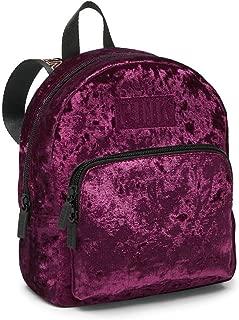 Victoria's Secret Pink Mini Velvet Campus Backpack Black Orchid