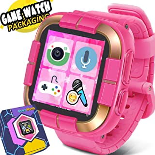Game Smart Watch for Kids / Walkie Talkie Watches with Digital Camera Alarm Timer Stopwatch, Touchscreen Sports Kids Watch Music Pedometer, Wrist Watch Wearable Learning Toys Girls Boys Gifts, Pink
