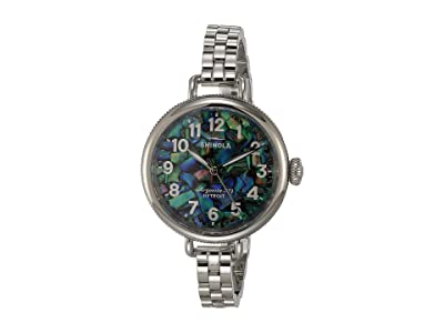 Shinola Detroit 34 mm Birdy 3H (Abalone/Silver) Watches