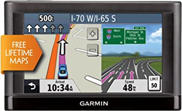 "Garmin Nuvi 55LM 5"" Touchscreen Car Sat Navigation GPS w/Lifetime Maps 0119-801 (Renewed)"