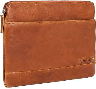 """STILORD """"Robb"""" Vintage Leder Laptoptasche für 13,3 Zoll MacBooks MacBooktasche Universal Tablettasche bis 14 Zoll DIN A4 echtes Rindsleder, Farbe:Ocker - braun"""