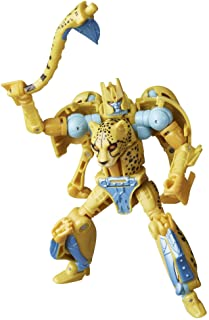 Transformers Toys Generations War for Cybertron: Kingdom Deluxe WFC-K4 Cheetor Action Figure - Kids Ages 8 and Up, 5.5-inch