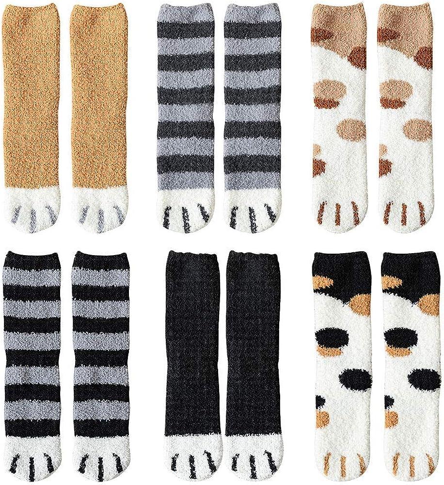 Hilareco Women Warm Super Soft Plush Slipper Sock Winter Fluffy Microfiber Crew Socks Casual Home Sleeping Fuzzy Cozy Sock