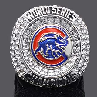 AONEW MLB Champions Ring 2016 Cubs Chicago Replica Rings Souvenir Gift for Fans Without Display Box Size 9-12