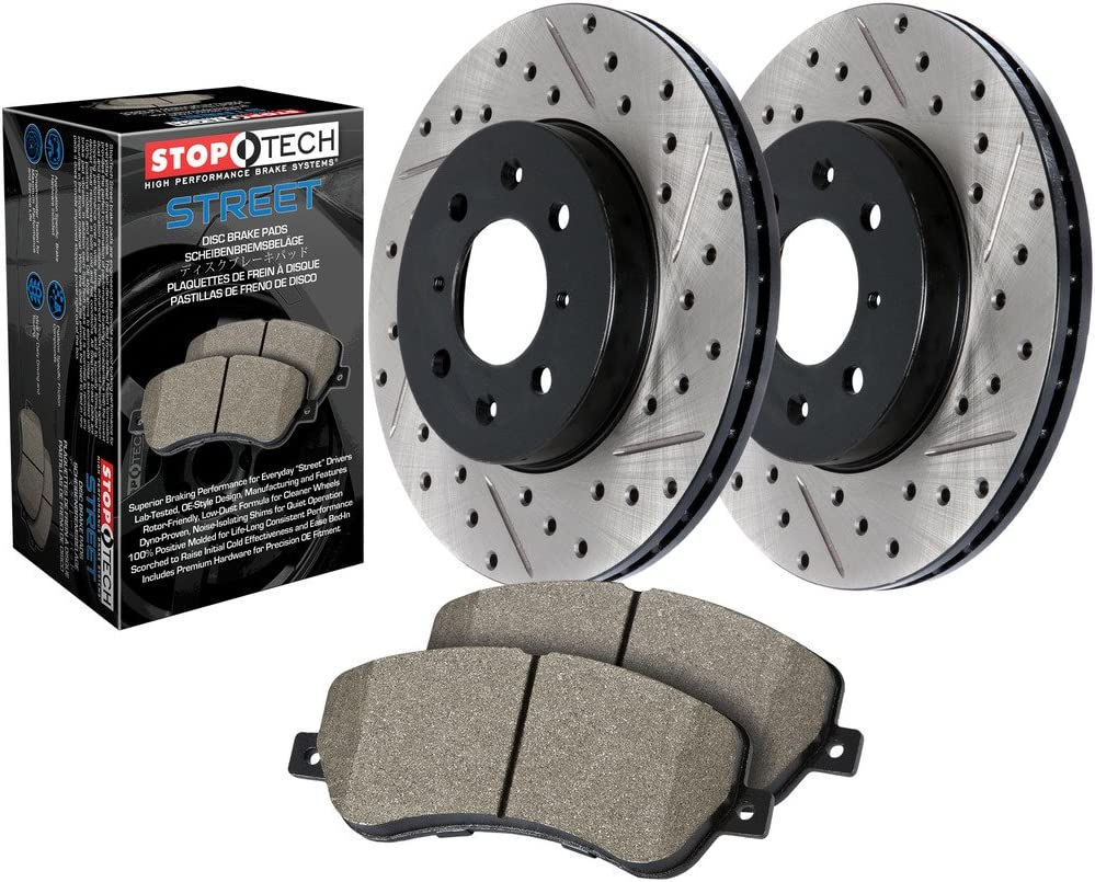 StopTech 938.35536 Street Axle OFFicial shop Phoenix Mall Pack Rear Drilled Bra and Slotted