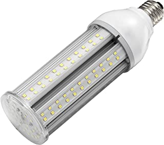 24W LED Corn Light Bulb E26 Medium Screw Base, 5000K Daylight 75-100w HPS Metal Halide HID Lamp LED Replacement for Garage Street and Area Light Patio Backyard Basement Barn Workshop Post Top