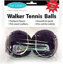 Top Glides Precut Walker Tennis Ball Glides (Black)