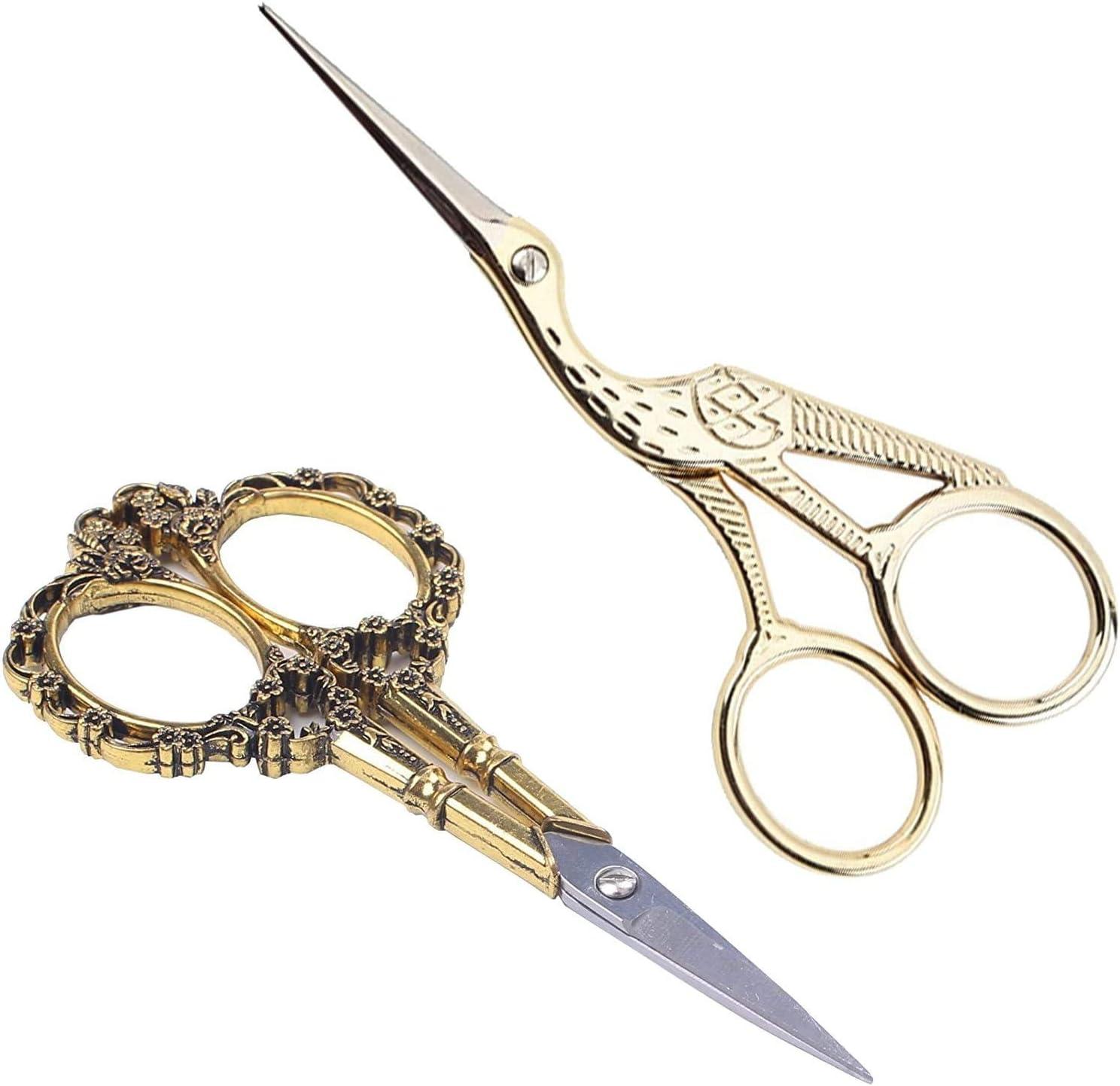 Titanium Tailor/'s Scissor Handicrafts gift for musician. GOLD GUITAR Scissors Zakka Sewing Supplies Vintage scissor music lover