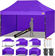 ABCCANOPY 18+ Colors Deluxe 10x15 Pop up Canopy Outdoor Party Tent Commercial Gazebo with Enclosure Walls and Wheeled Carry Bag Bonus 4X Weight Bag and 2X Half Walls (Purple)