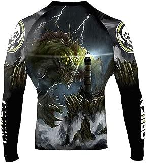 Raven Fightwear Men's The Great Old Ones Dagon Rash Guard MMA BJJ Black