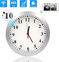 Hidden Camera Clock, KAMRE Upgrade 1080P WiFi Hidden Camera Wall Clock Spy Camera Nanny Camera for Home Security with Motion Detection, No Night Vision