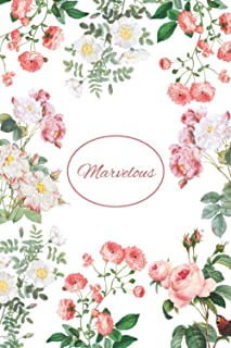 Marvelous: Lined Notebook with Personalized Name Marvelous: 6x9 120 Pages - Personalized Name gift, School gifts, Gift Mar...