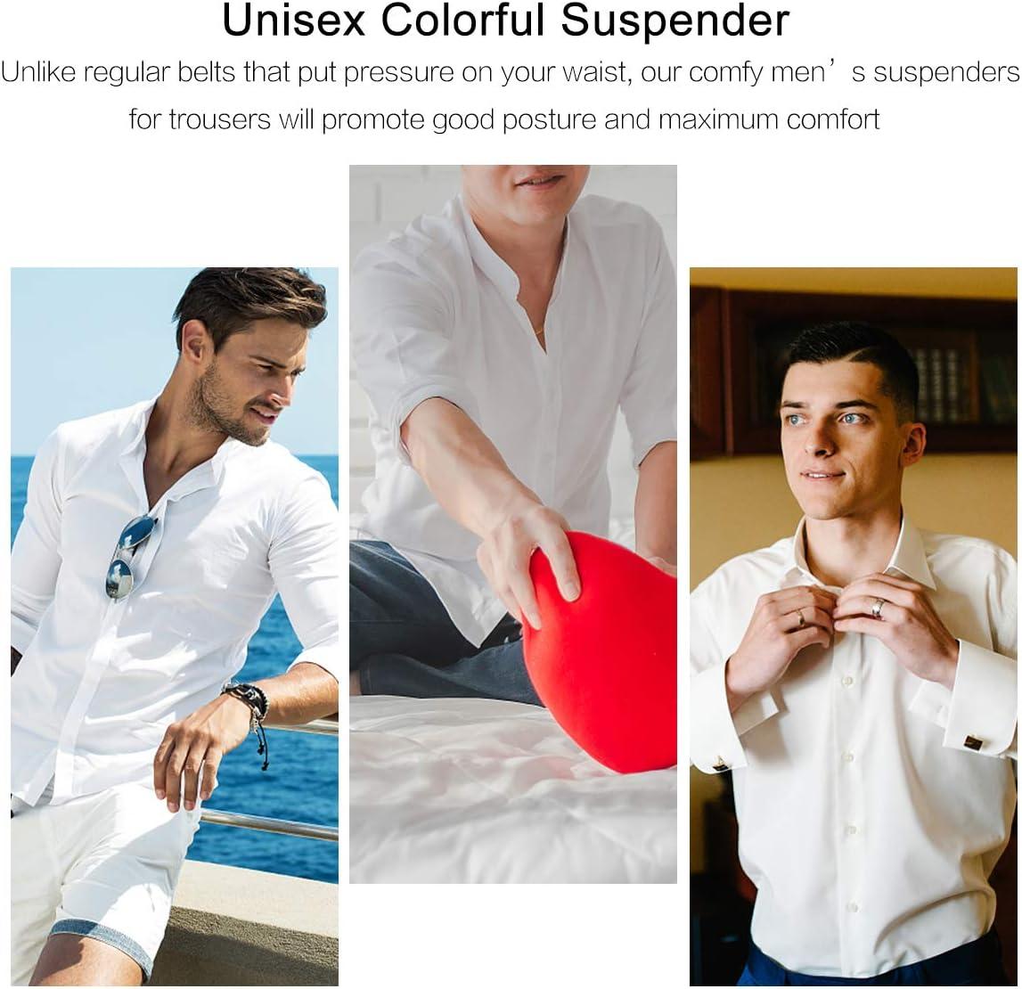 VALICLUD Bow tie Suspenders Set Adjustable Elastic Halloween Belt Strap for Men Kid
