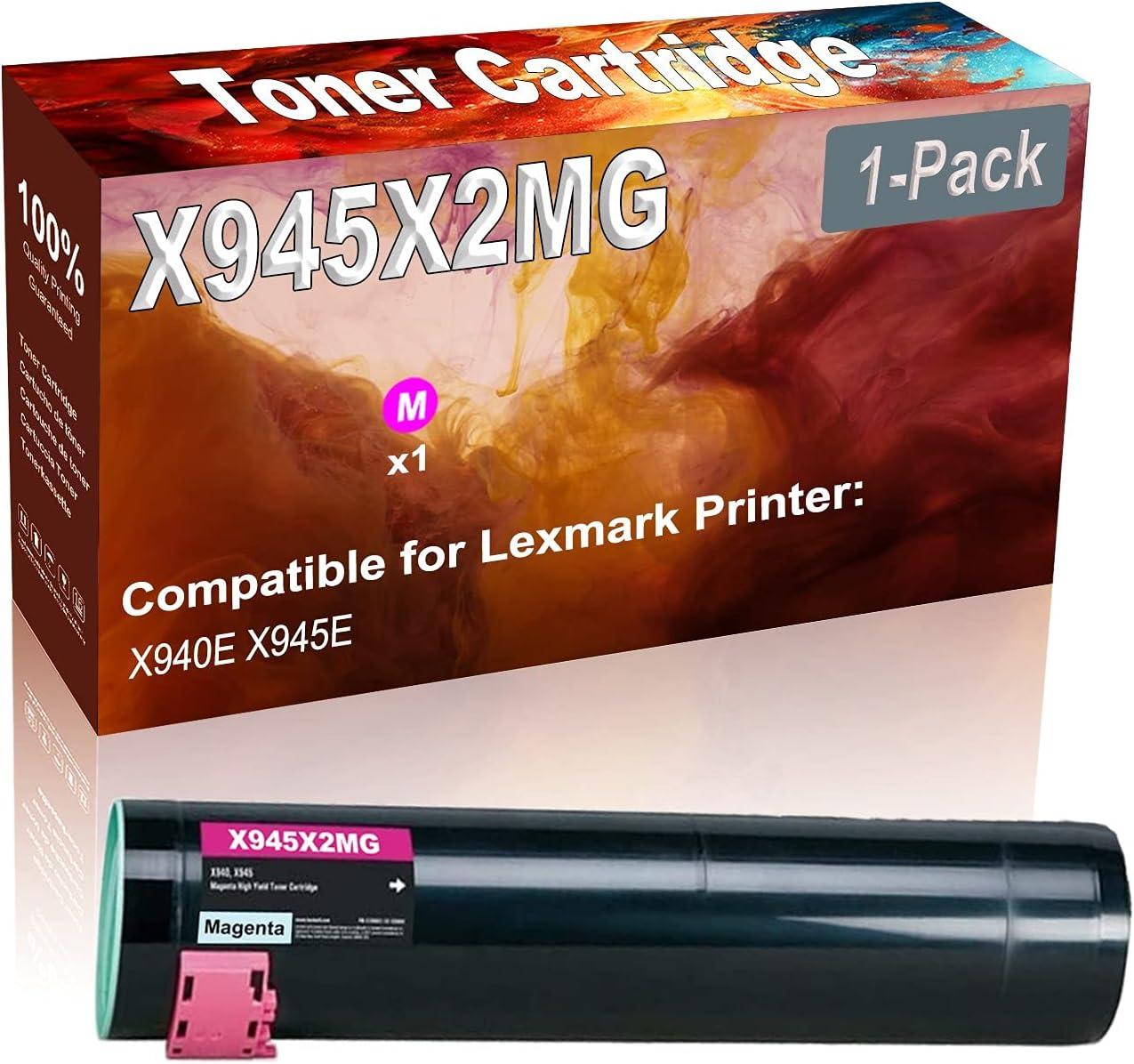 1-Pack (Magenta) Compatible High Yield X945X2MG Printer Toner Cartridge use for Lexmark X940E X945E Printers