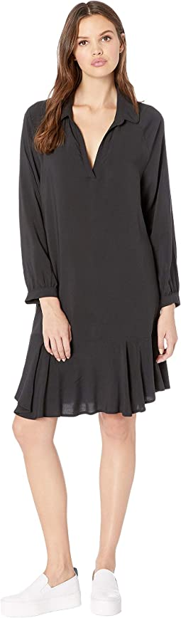 Long Sleeve Peplum Dress
