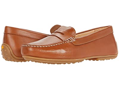 Samuel Hubbard Free Spirit For Her (Luggage Tan Full Grain/White Topstitch/Gum Sole) Women