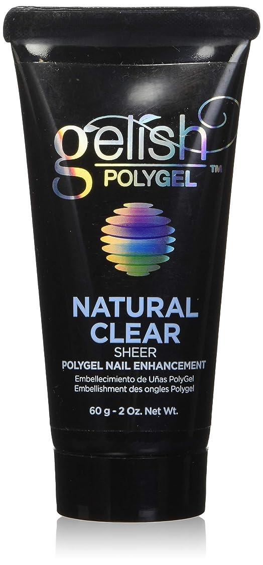 爬虫類取り替える横向きHarmony Gelish Gel Polish - PolyGel - Natural Clear - 60g/2oz