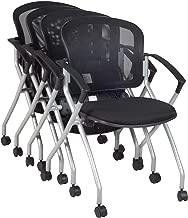 Regency 2309BK4PK Cadence Nesting Chair (4 Pack), Black