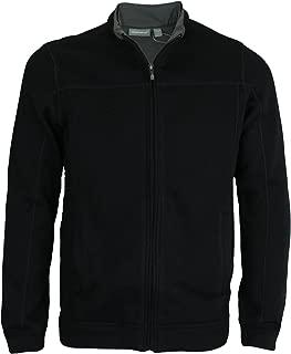 Men's Zip Up Fleece Sweater (2XL, Black)
