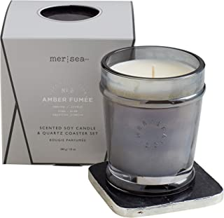 Mer Sea Quartz Boxed Candle - Luxe Collection (Amber Fumée)