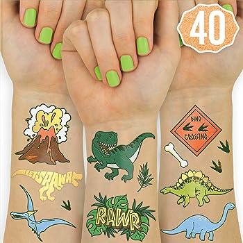 Amazon Com Dmhirmg Tatuajes Temporales De Dinosaurio Para Ninos Y Ninas Conjuntos De Tatuajes De Dinosaurio Para Ninos Pegatinas De Tatuaje Falsas Impermeables Suministros De Recuerdos De Fiesta De Cumpleanos Para Ninos Por ejemplo este tatuaje de jesús montando un dinosaurio. tatuajes temporales de dinosaurio para