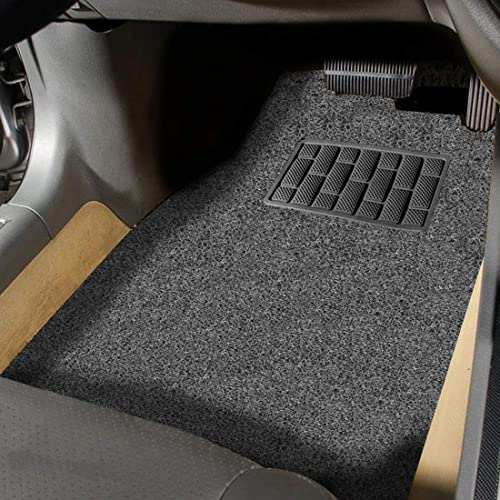 Autofurnish Anti Skid Curly Car Foot Mats (Grey Black) Universal