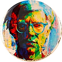 Andy Warhol Pin - Pinback Button by Mark Lewis Art - fwm - hand signed collectible