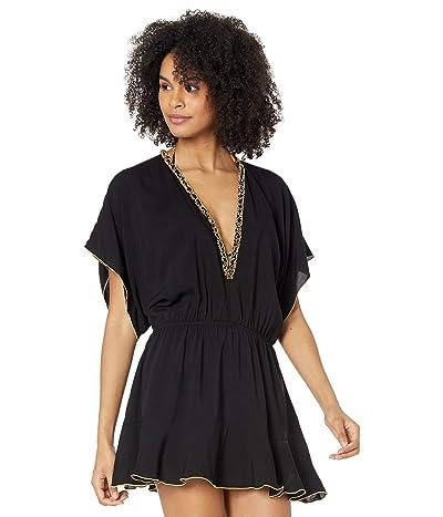 Luli Fama Night Dreamer Luxe Playera V-Neck Dress Cover-Up Women