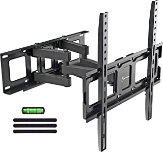 """Dual Articulating Arms TV Wall Mount Bracket fits to Most 32""""-55"""" inch LED,LCD,OLED Flat Panel TVs, Tilt Full Motion Swivel 14.1"""