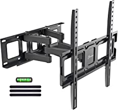 """$25 Get Dual Articulating Arms TV Wall Mount Bracket fits to Most 32""""-55"""" inch LED,LCD,OLED Flat Panel TVs, Tilt Full Motion Swivel 14.1"""" Extension, Max VESA 400X400, 80lbs Loading-by EVERVIEW"""