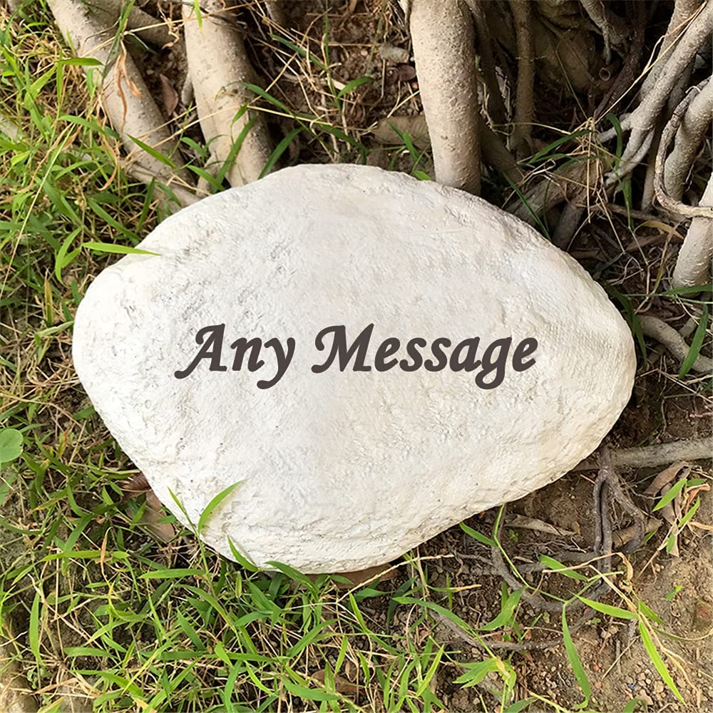 somiss Personalized Decorative Garden Stones Engraved with Any Message, Indoor or Outdoor Welcome Stones Memorial Stones for Housewarming,Memorial Gifts Special Day Gifts,11