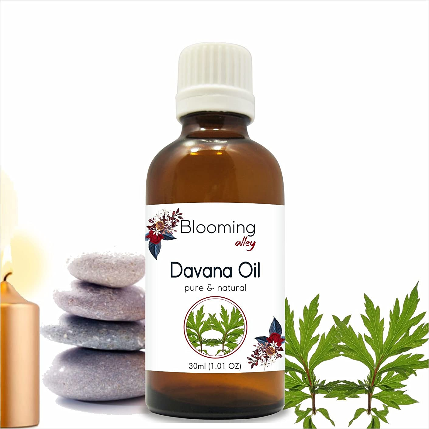 形メンダシティ時期尚早Davana Oil(Artemisia Pallens) Essential Oil 30 ml or 1.0 Fl Oz by Blooming Alley