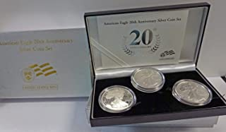 2006 Various Mint Marks American Silver Eagle 20th Anniversary Set Uncirculated