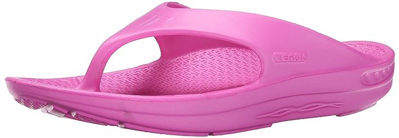 Telic Energy Flip Flop - Comfort Sandals for Men and Women, Pink Flamingo, Women's 14 / Men's 13