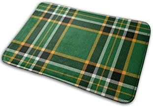 "Irish Tartan Doormat Non Slip Indoor/Outdoor Door Mat Floor Mat Home Decor, Entrance Rug Rubber Backing Large 23.6""(L) x 1..."