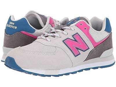 New Balance Kids 574v1-USA (Big Kid) (Summer Fog/Carnival) Kids Shoes