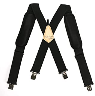 Melo Tough Padded Work Suspenders With Super Strong Clip For Dewalt Carpenters Combo Tool Belt  Bucket Boss Carpenter's Suspension Rig